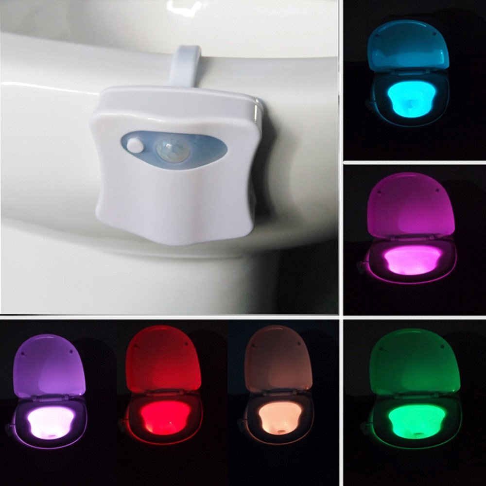Motion Activated Toilet Night Light, NnxDeal LED Toilet Seat Light ...
