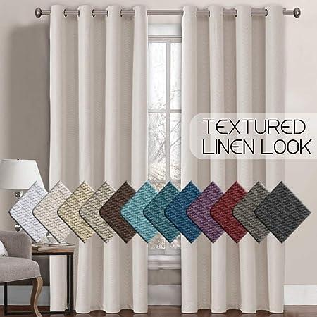 H /& H Bio lavado 100/% Lino-Blanco-Tela Confección Moda Interior