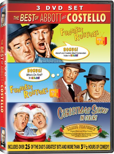 The Best of Abbott & Costello 3PK - IN COLOR! - Funniest Routines Vol 1, Funniest Routines Vol 2, & The Christmas Show (Best Of Abbott And Costello)