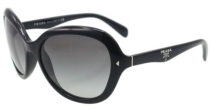 896eabcc60e Prada Sunglasses SPR 09O BLACK 1AB-3M1 SPR09O  Amazon.co.uk  Clothing
