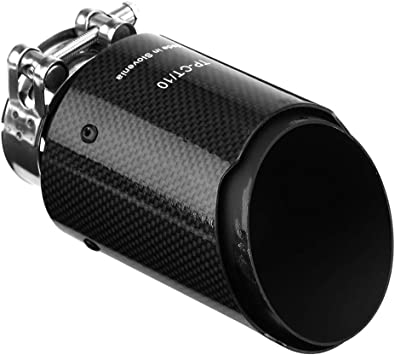 80MM Muffler Tip Car Modification Accessories 1 PC 54//57//60//63//66//70//73//76//80//84MM Carbon Fiber Car Tail Pipe-Exhaust Silencer
