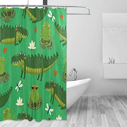 TaTaisu Spa Shower Curtain For Bathroom Waterproof Set With Hooks Long Bath Mildew Resistant Kids Unisex
