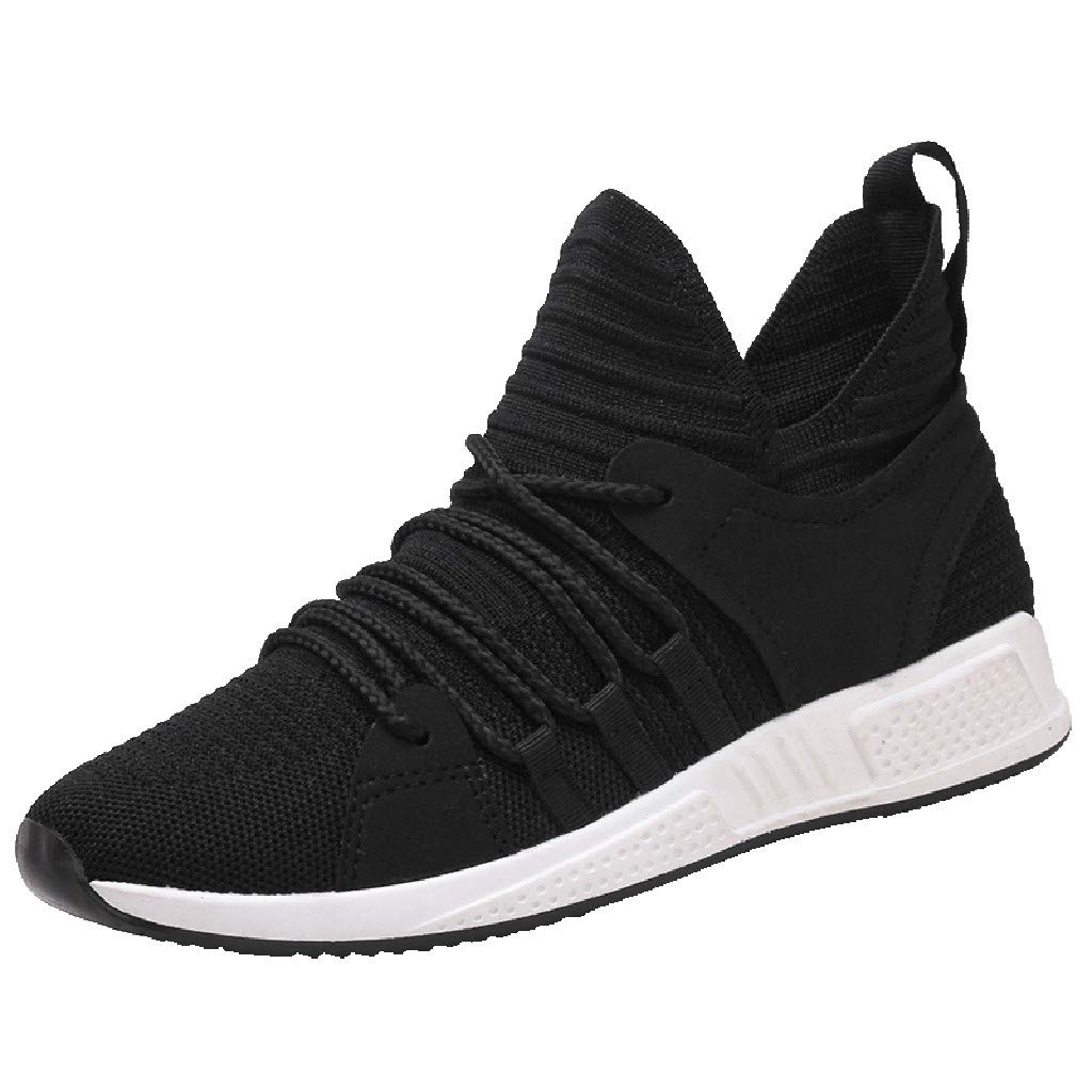 TIFENNY Fashion Cool Basketball Shoes Mens Lace Up Mesh Sports Loafers Casual Sneakers Solid Flat Shoes