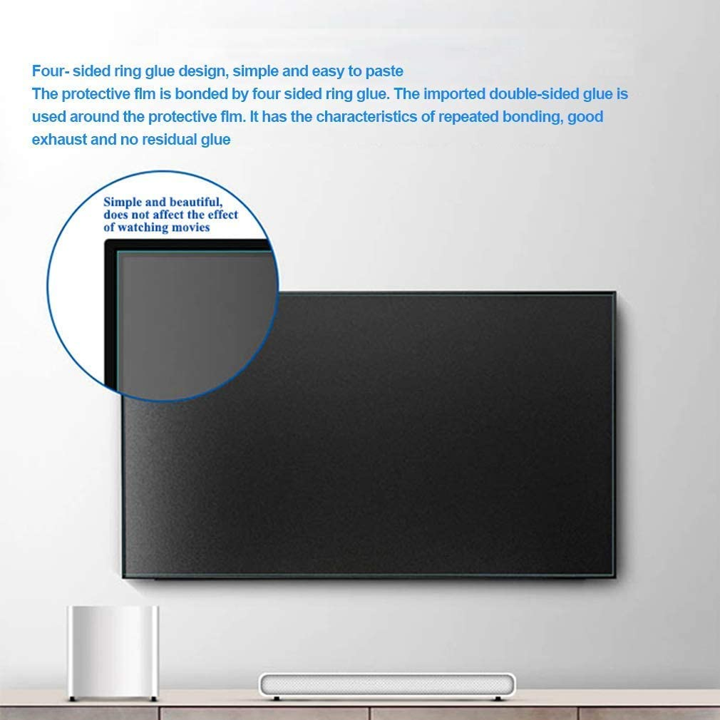 BYCDD 65 Inch Anti-Blue Light TV Screen Protector Non-Glare Ultra-Clear Eye Protection Screen Filter for LCD LED OLED /& QLED 4K HDTV,65 inches