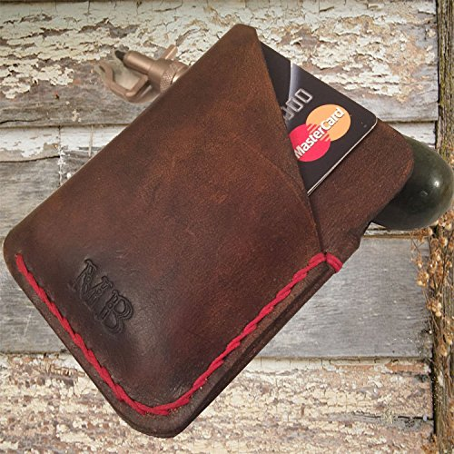 Personalized leather credit card wallet | Credit card leather wallet | Minimalist leather wallet | Business card holder by Papyrus Crafts