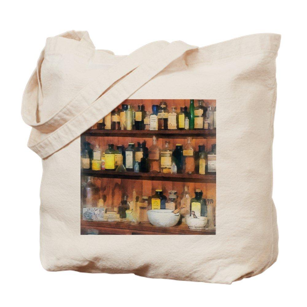 CafePress – モルタルand Pestlesと薬ボトル – ナチュラルキャンバストートバッグ、布ショッピングバッグ M ベージュ 16352702206893C B073QV6J2Z MM