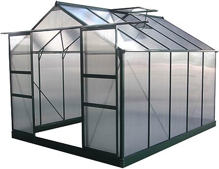 Invernadero de jardín policarbonato/plástico Verde