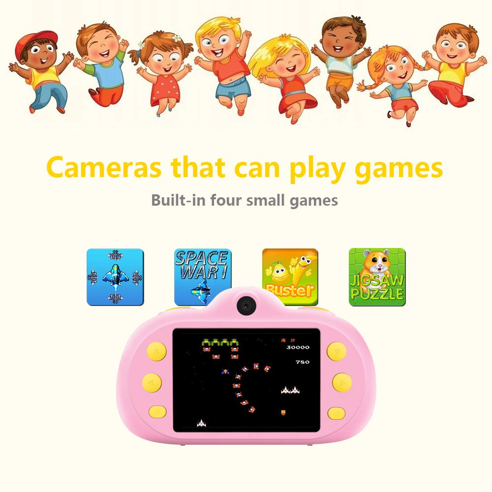 Huaker Kids Camera ,2.4Inch Screen Digital Camcorders Camera Rechargeable 8MP Children's Camera with Silicone Soft Cover for 3-10 Year Old Boys Girls Party Outdoor Play by Huaker (Image #6)