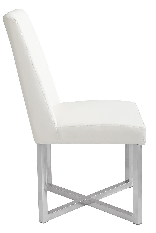Amazon com sunpan modern 23026 howard dining chair white chairs
