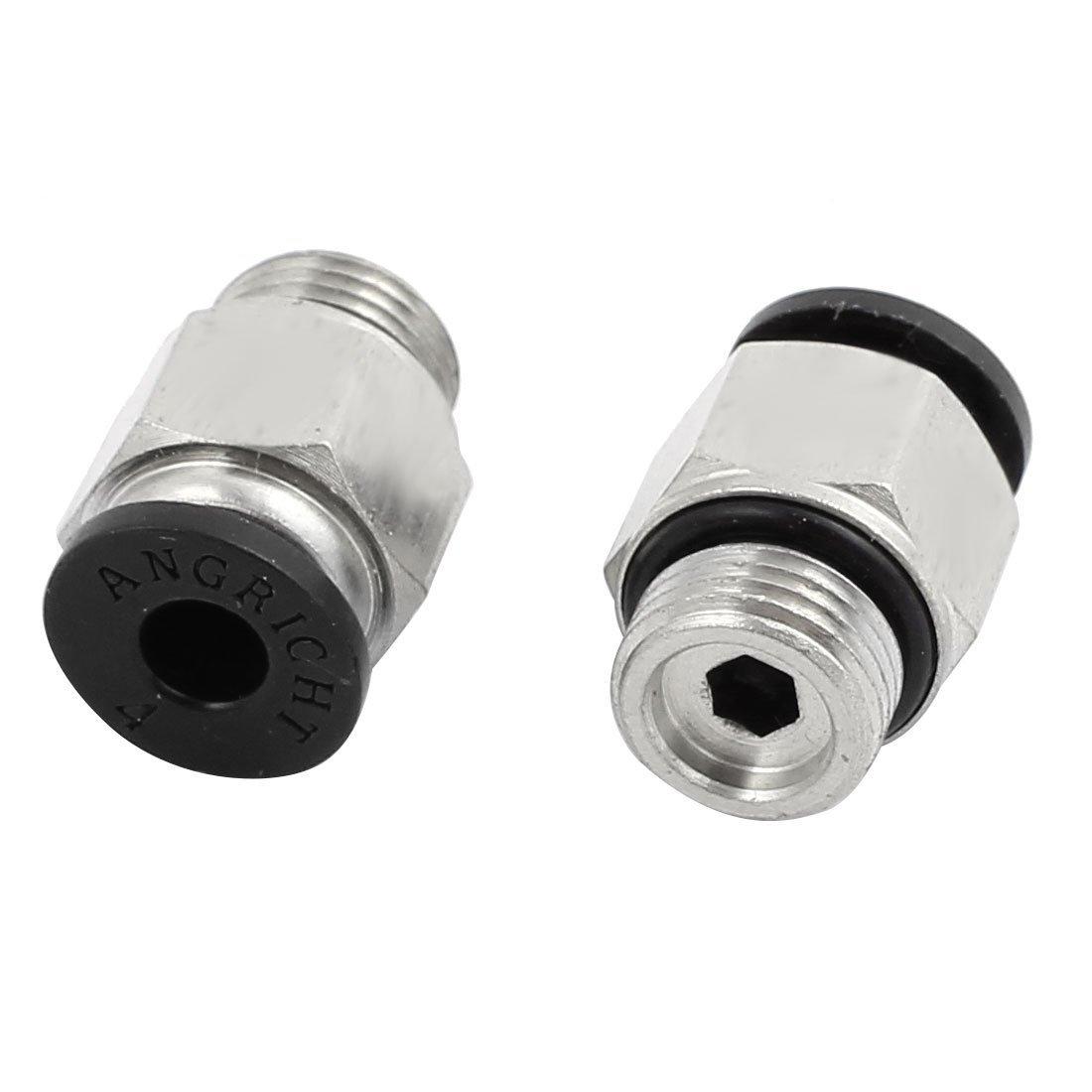 DealMux 30pcs 1//8 PT rosca macho de 4 mm empujar hacia adentro conjuntos de conectores neum/áticos Racores r/ápidos