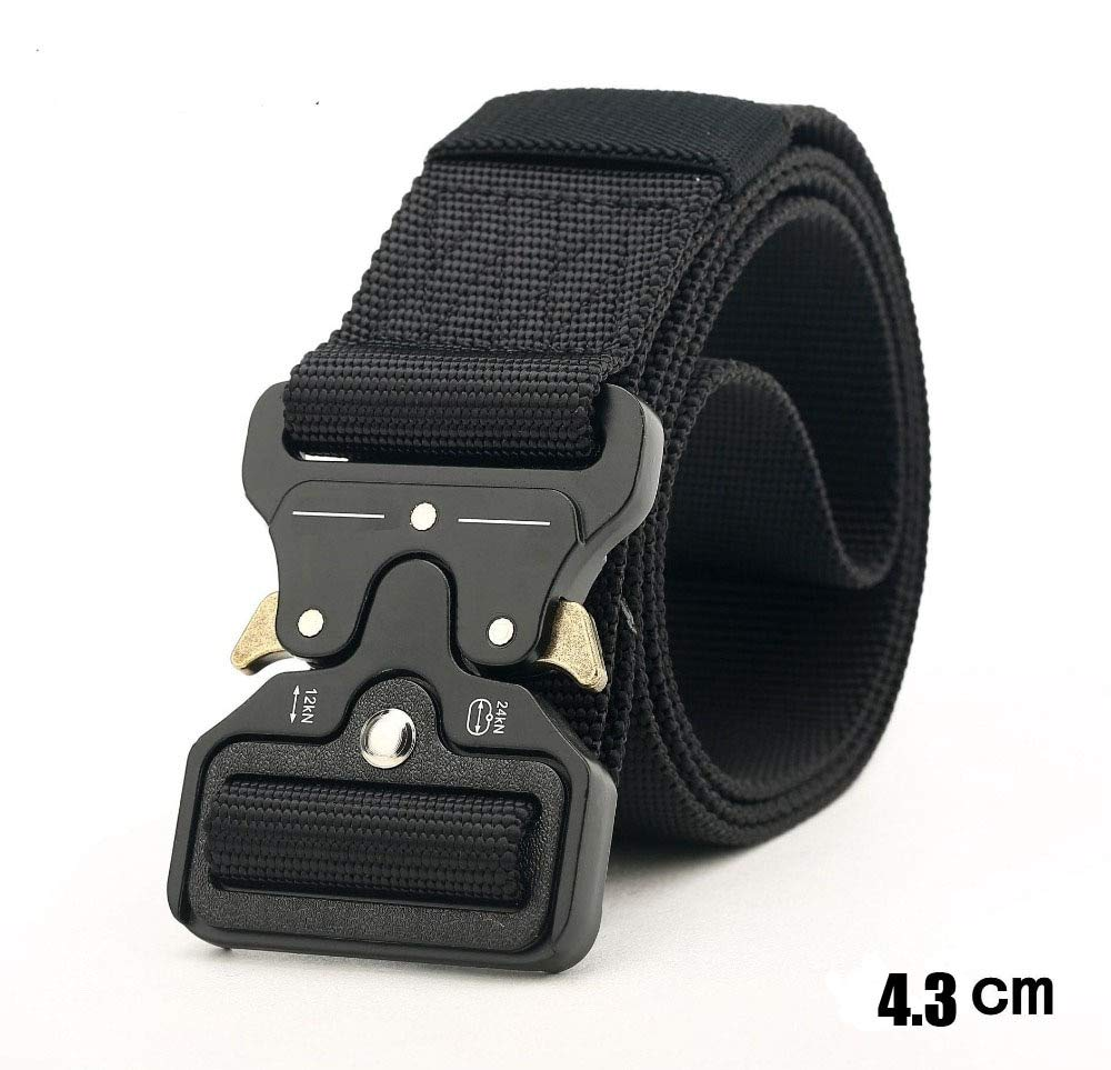 HeroStore Wide 4.3cm Nylon Metal Tactical Gear Heavy Duty Belts Padded Patrol Waist Outdoor Hiking Climbing Hunting Load Bearing Belt 20