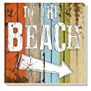 """CounterArt Absorbent Coasters, """"Beach Signs"""", Set of 4"""