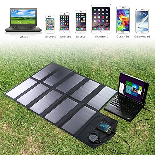 Allpowers 60w Foldable Sunpower Solar Panel Charger With