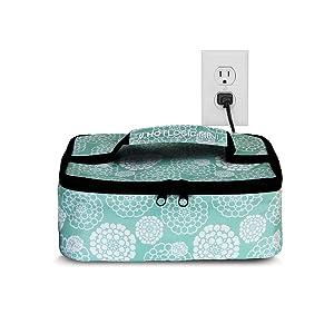 HotLogic Mini Portable Oven (Aqua Floral)