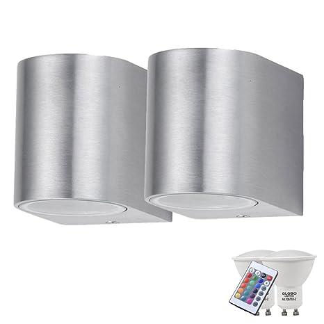 Conjunto de 2 luces al aire libre radiadores de aluminio de pared regulable de ajuste de