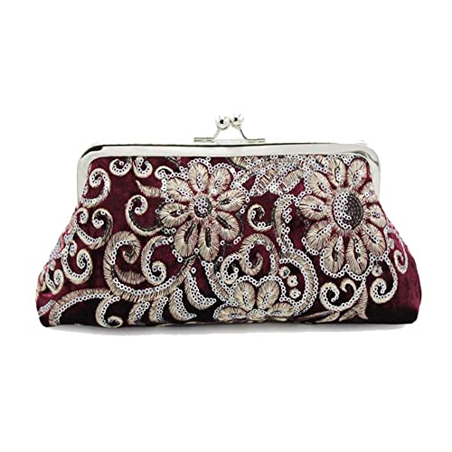 bc19202c93 Kingluck The Evening Bags Women Clutch Bags embroidering Wedding Bridal  Handbag Pearl Beaded Lace Rose Fashion