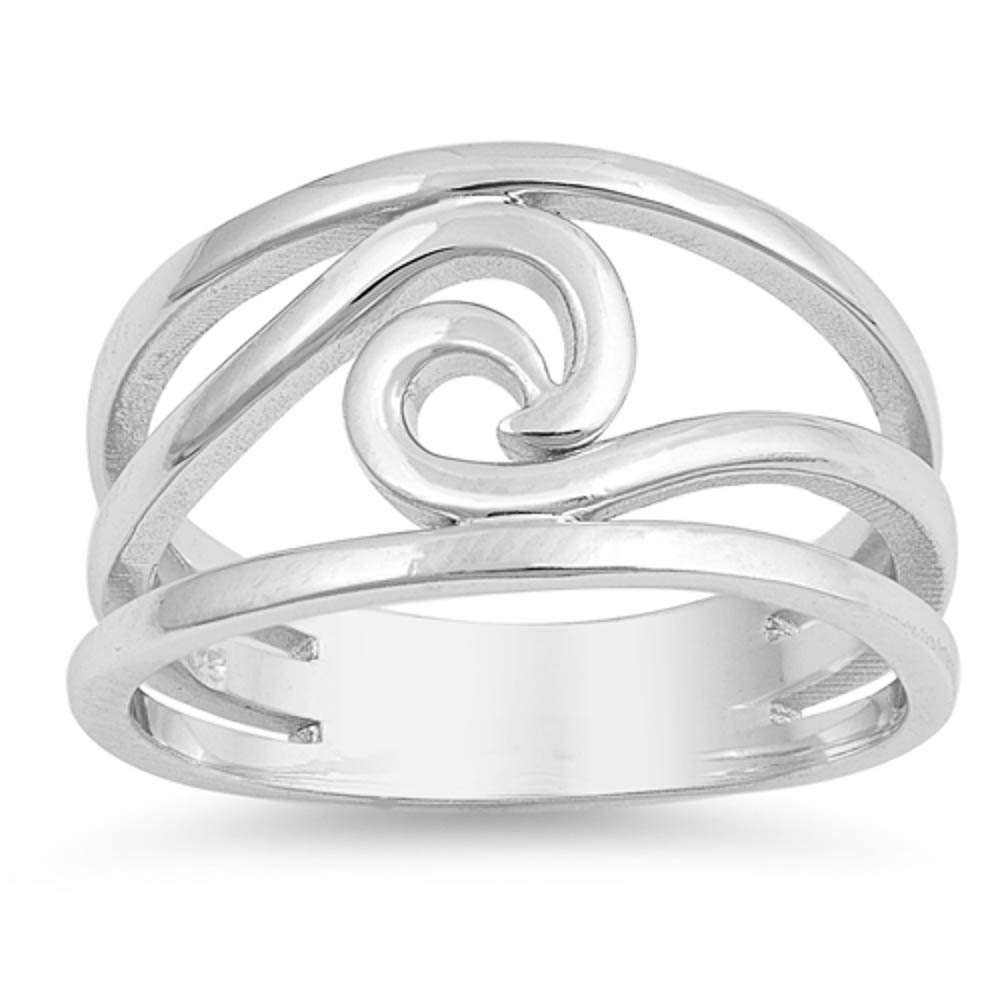 Plain /& Cz Band .925 Sterling Silver Ring Sizes 5-10