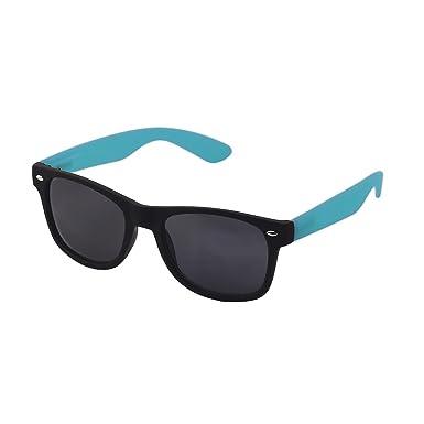 Sonnenbrille Polarisiert Nerd Brille Wayfarer Spiegelglas Color Blau fgU539TlN