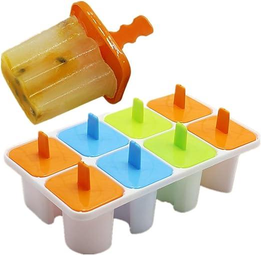 Molde de helado para hacer paletas de 8 celdas, bandeja para hacer ...