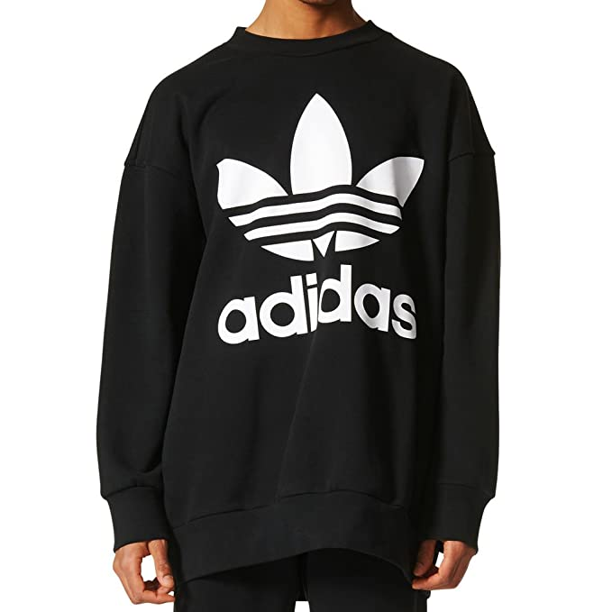 Amazon | (アディダス)adidas MEN'S ORIGINALS Trefoil Crew