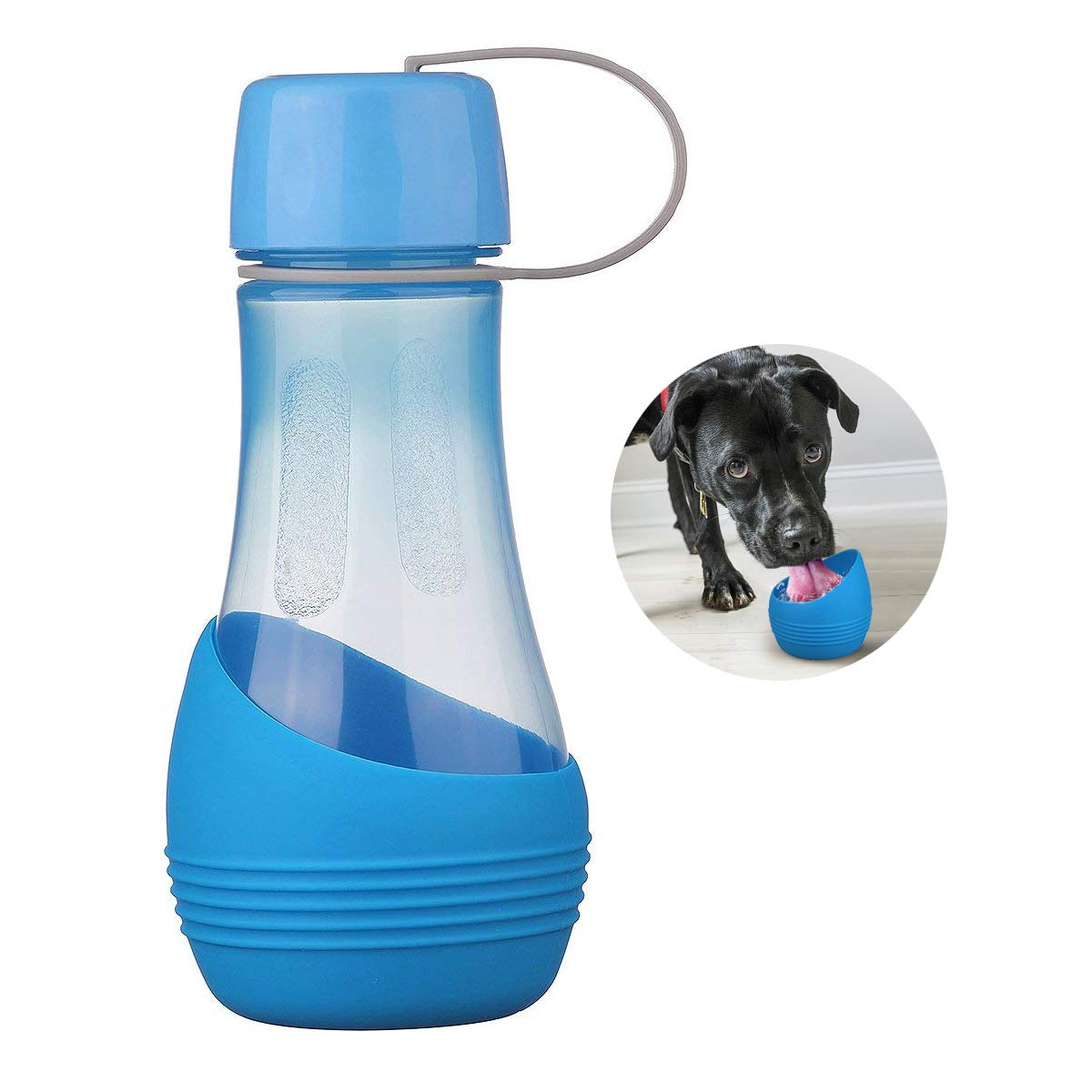 RoyalCare Neue Wasserflasche Für Hunde BPA-frei mit abnehmbarer Schüssel, Perfekt zum Wandern, Ausübung, Wandern, Camping mit Haustiere Ausübung