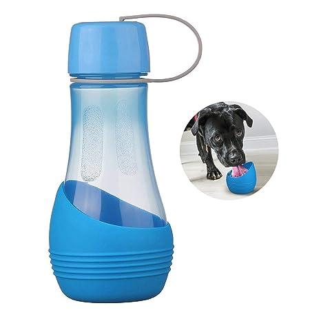 Nueva botella de agua para perros,BPA-libre con el tazón desprendible Perfecto para