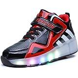 24XOmx55S99 LED Light Up Sneakers Single Wheel Roller Skate Shoes for Boy and Girl