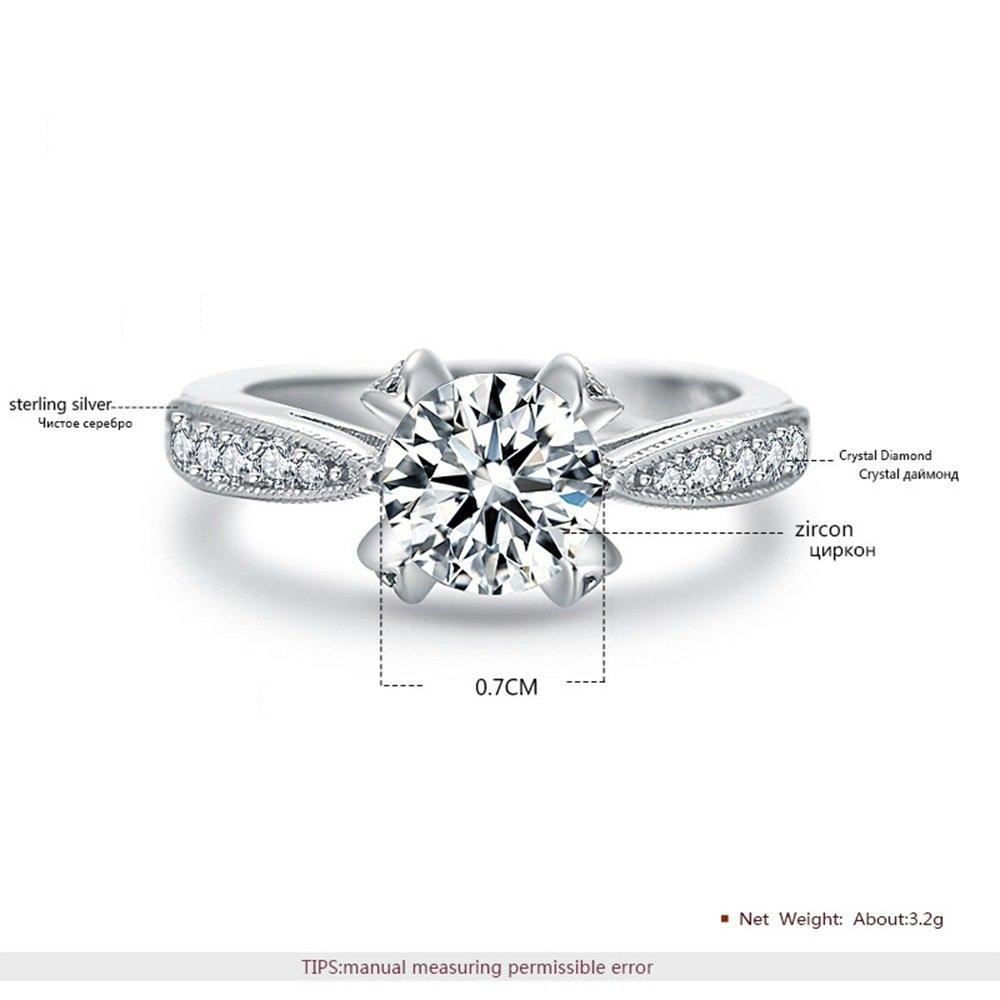 Amazon Com Tidoo Jewelry 925 Sterling Silver Ring Luxury Wedding