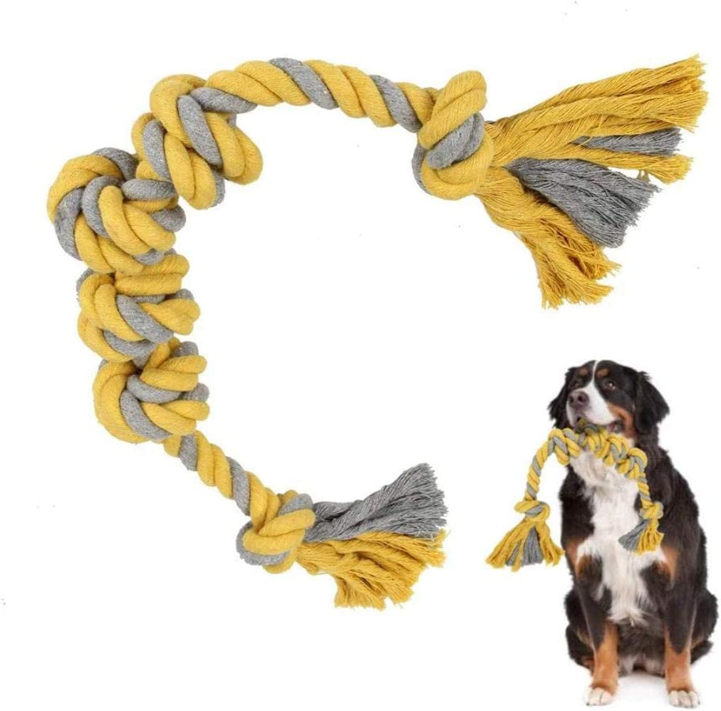 WYB Strong Dog Rope Toys para Perros Grandes, Sturdy   Rope Dog Chew Toys, Interactive Tough Dog Tug of War Toys for Boredom, Suit for Big and Extra Large Breed Dogs