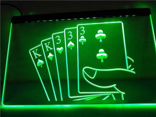 Poker Room Casino Game Room Bar Dual Color Led Neon Sign st6-i2347