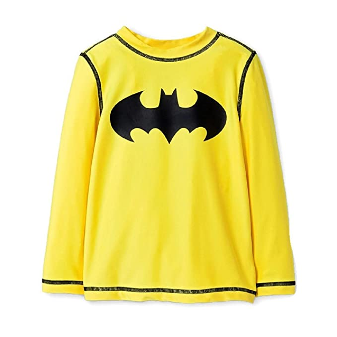 Amazon.com: Batman manga larga Rash Guard de natación ...