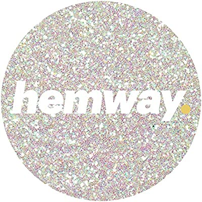 "Hemway CHUNKY Premium Multi Purpose Glitter 1/40"" 0.025"" 0.6mm 625 microns Dust/Powder 100g/3.5oz for Crafts Cosmetic Wine Glass Face Art Nail Skin Beards Festival"