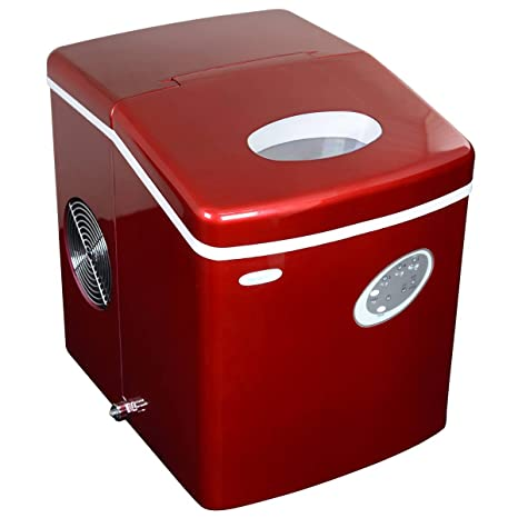 Charmant NewAir AI 100R 28 Pound Portable Icemaker, Red