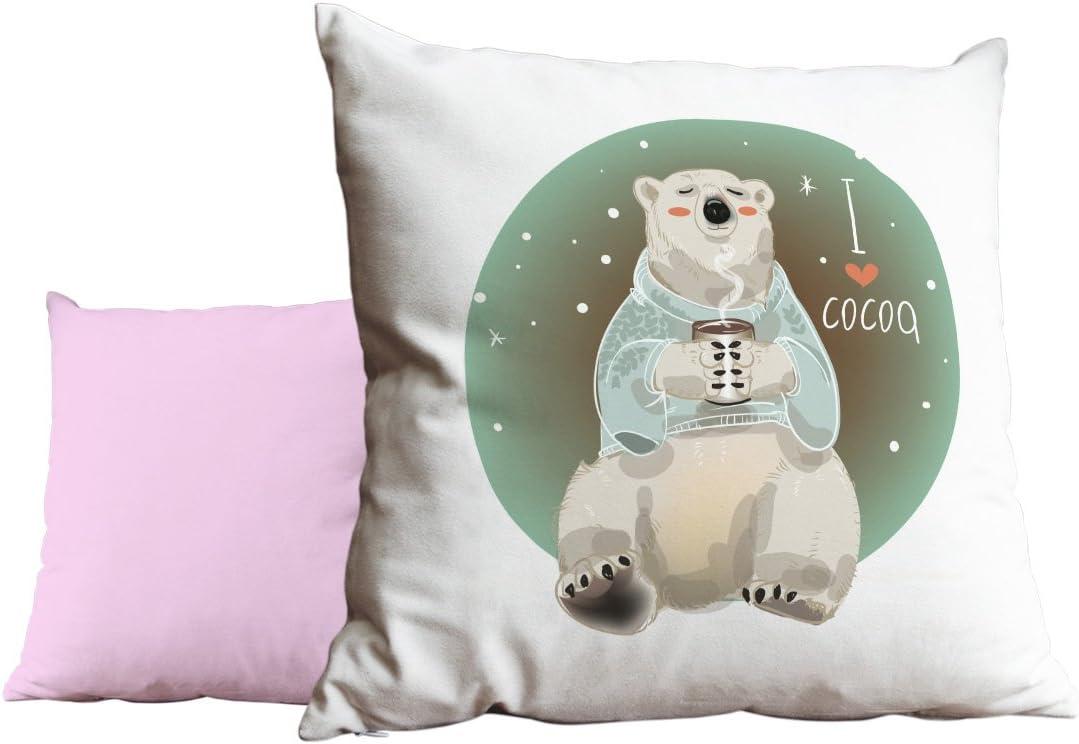 Duke Gifts I love cocoa polar bear Pink Cushion Scatter Pillow 245