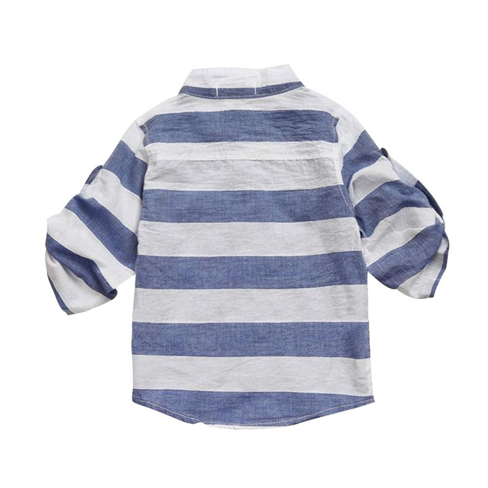 Mud Kingdom Baby Striped Long Sleeve Shirts and Jeans Overalls Outfits