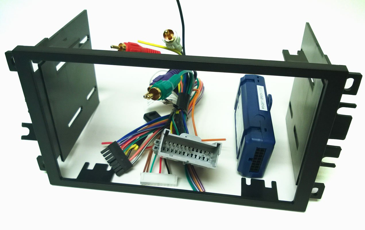 Double Din Dash Kit Wire Harness And Antenna Adapter Wiring 04 Astro For Installing A New Radio Into Chevy Chevrolet Avalanche 03 06 Cavalier 2000 05