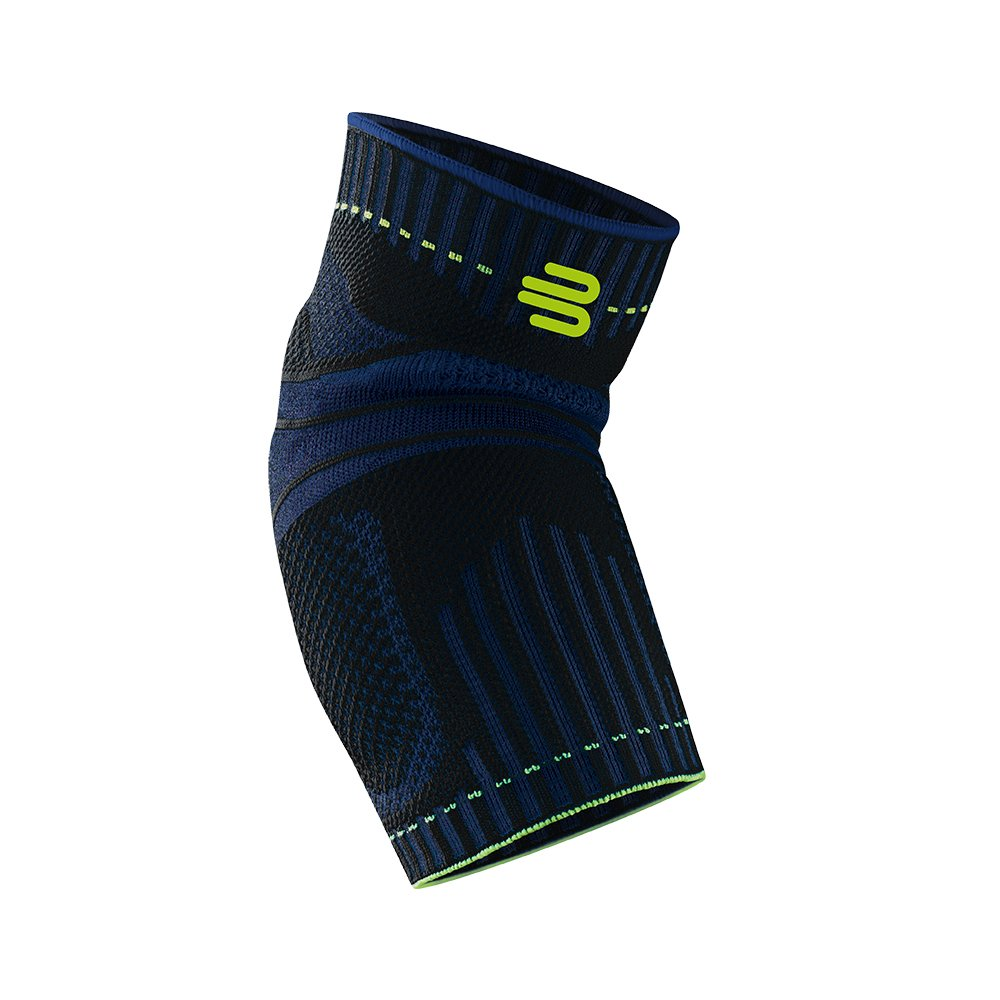 Bauerfeind Sports Elbow Support - Breathable Compression Elbow Brace - Contoured Pads for Inner and Outer Elbow Protection Against Joint Pressure - Air Knit Fabric Washable & Durable (Black, Medium)