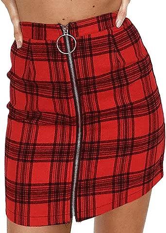 LEvifun Pantalones Cortos para Mujer Sexy Cuero Cintura Alta Piel ...