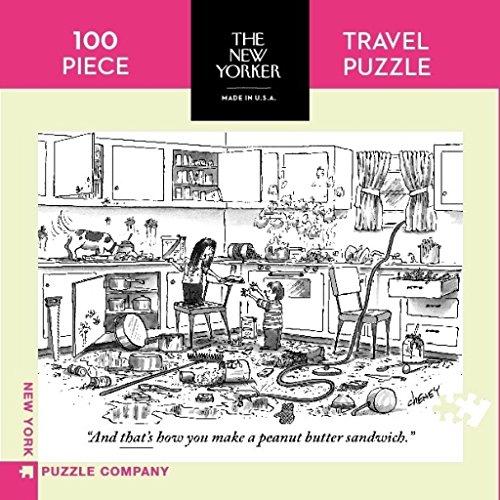 New York Puzzle Company - New Yorker Peanut Butter Sandwich Mini - 100 Piece Jigsaw (New Peanuts)