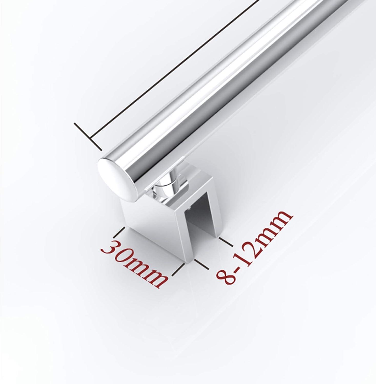 Barra de sujeción para mampara de ducha de 80 – 140 cm, redondo, estabilizador, acero inoxidable, grosor de cristal 8 – 12 mm, GS21XL: Amazon.es: Bricolaje y herramientas