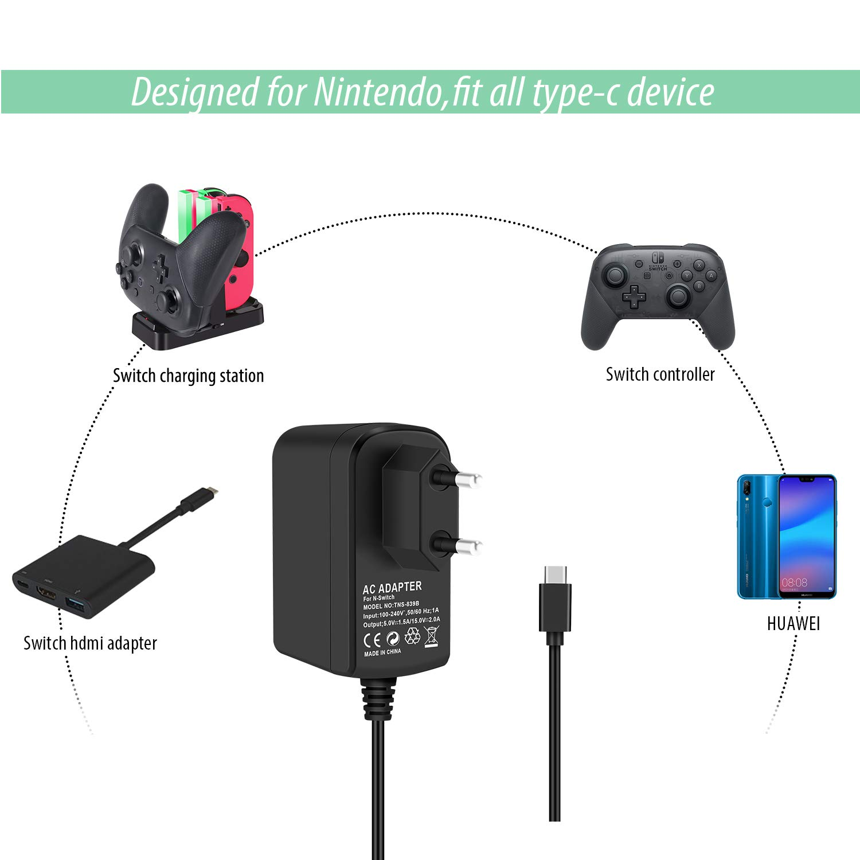 Cargador Adaptador para Nintendo Switch KINGTOP Conmutador ...