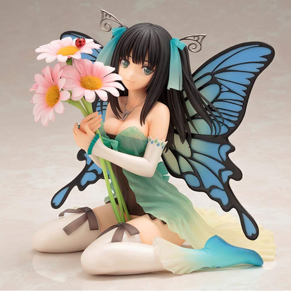 YIFNJCG Anime Modell Spielzeug Ornamente Schmetterling Kobold Daisy Sitzen Sitzen Sitzen Haltung Statue Geschenk Sammlung Souvenir Urlaub Geschenk Spiel Anime Enthusiasten (ca. 14 cm) 932722
