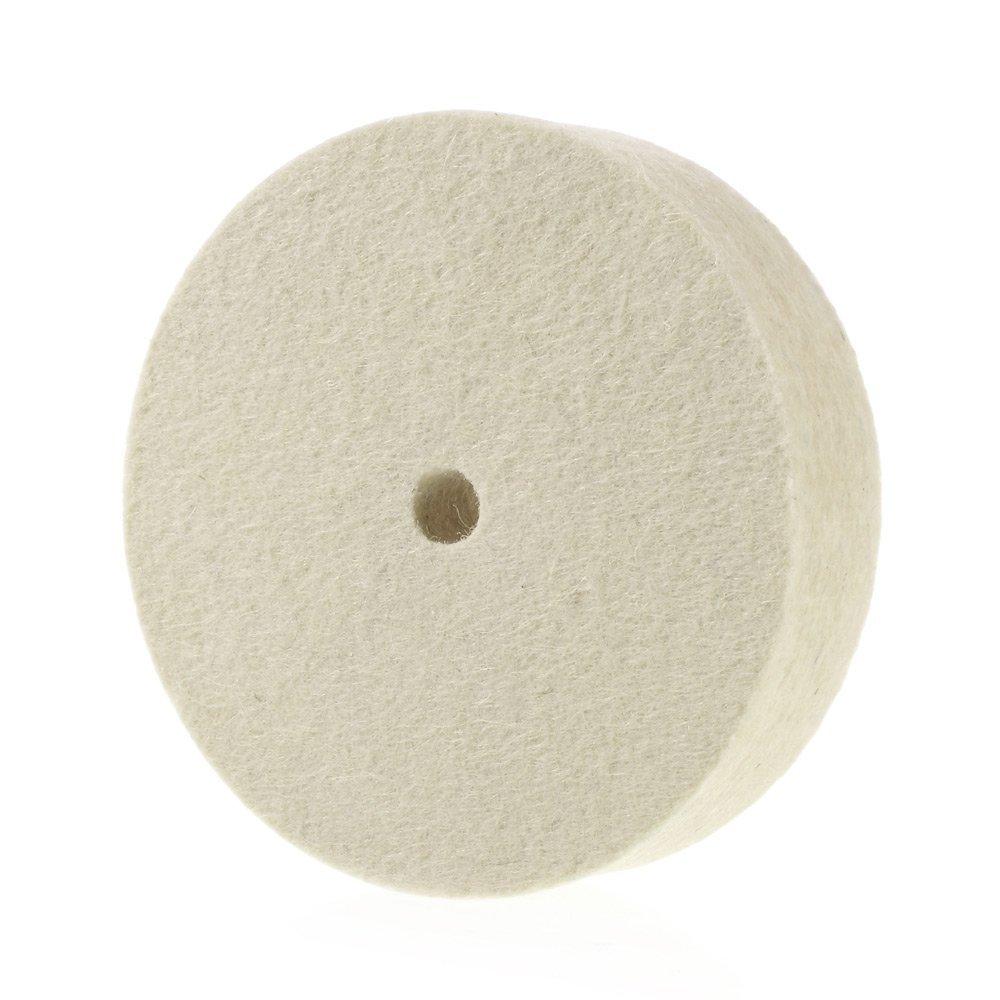 Premium 6'' 100% Organic Wool Felt Polishing Buffing Wheel