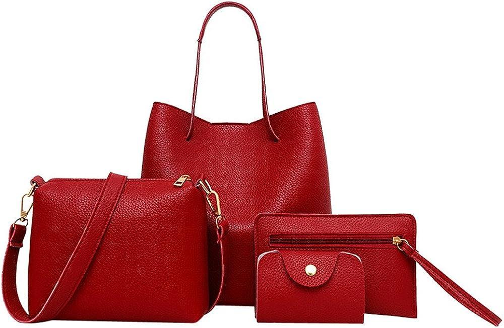 Women 4PC Messenger Bag...