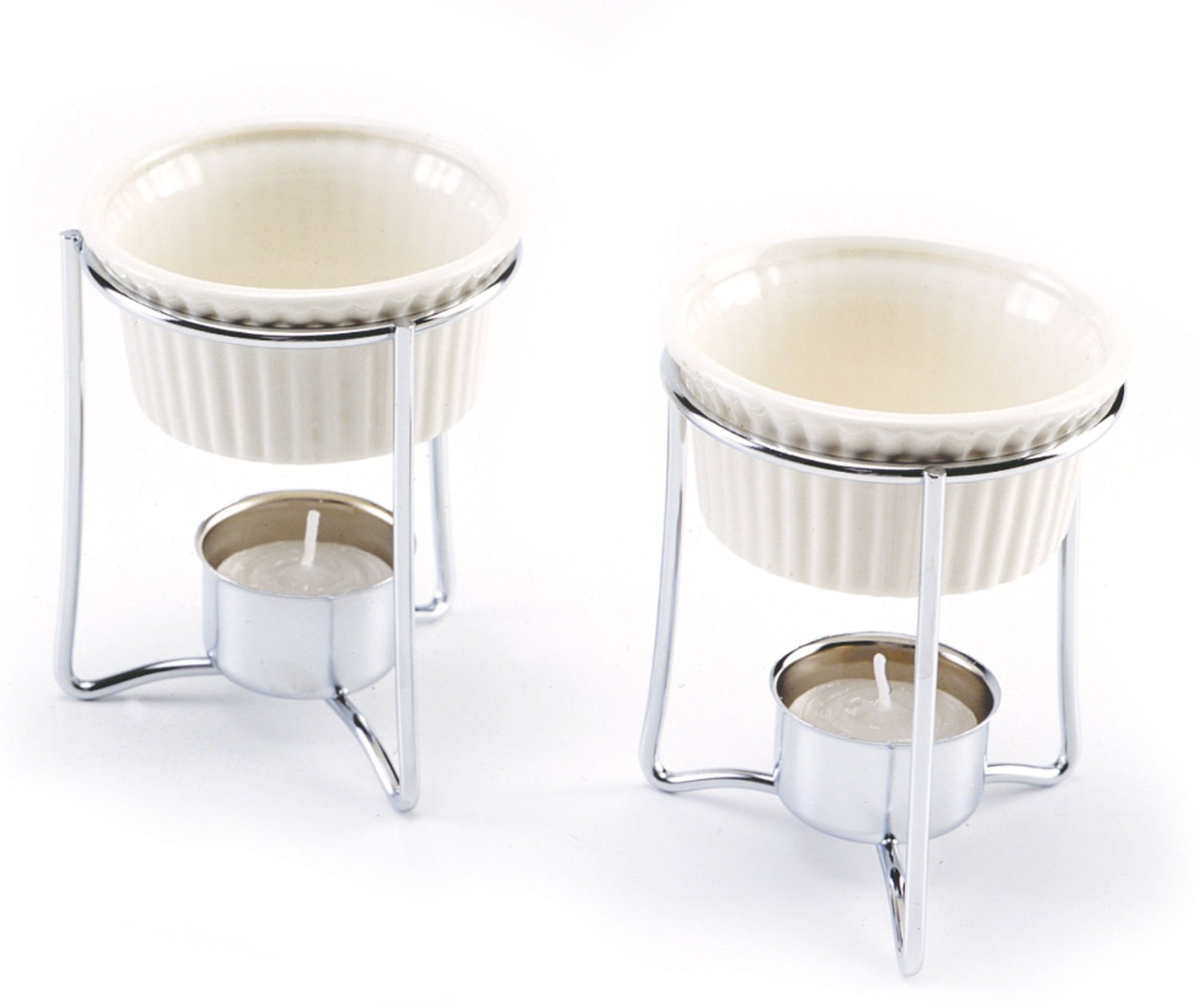 Norpro Stainless & Ceramic Butter Warmers Set of 2 NEW
