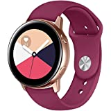 "for Samsung Galaxy Gear Watch Active 2/ Active/Gear 42mm Fitness Wristband Bracelet Tracker Silicone Water Resistant Wrist Band (Small (5.5"" to 7.1""), Wine Red)"