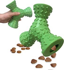 SSSFENG Dog Chew Toys for Aggressive Chewers Durable Food Dispensing Dog Toys and Tooth Cleaning Natural Rubber Pet IQ Treat Toy for Medium and Large Dogs and Pets