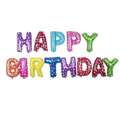 Foil Balloon bandera del cumpleaños feliz cumpleaños ...