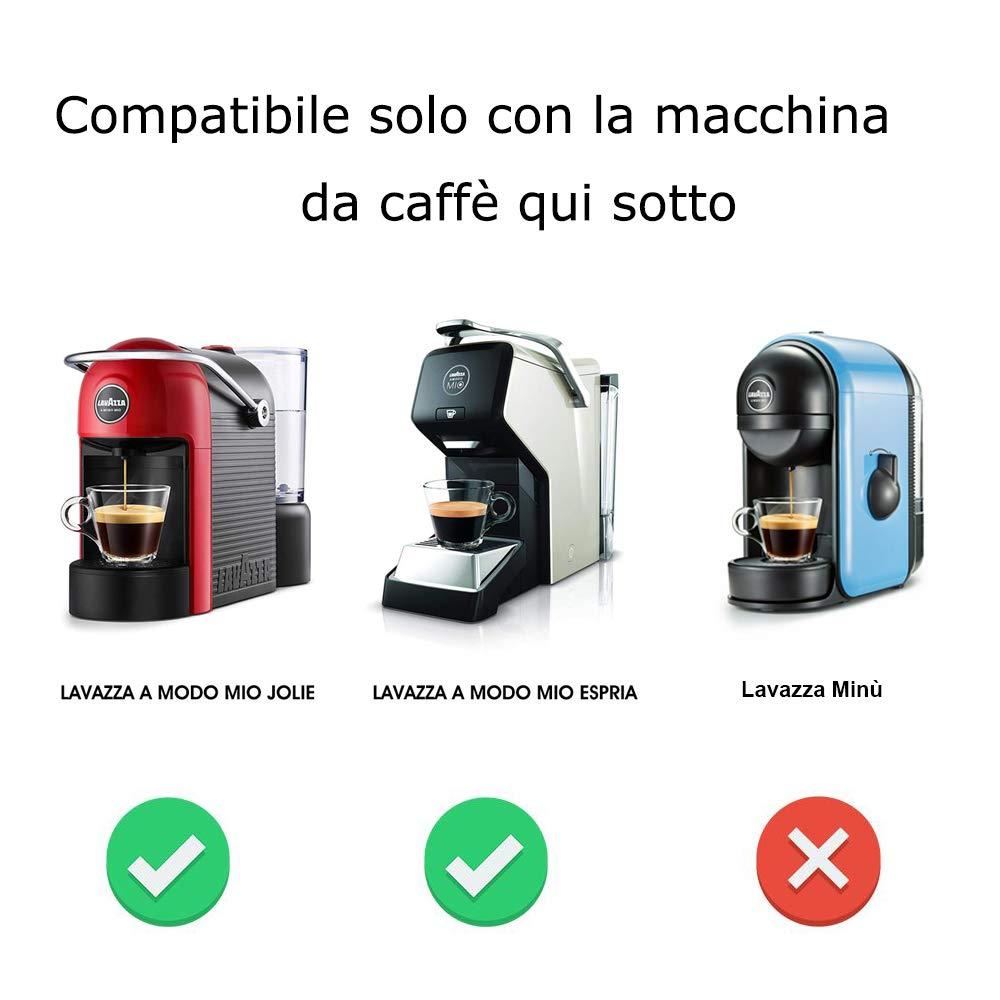 C/ápsula 1 Cucchiaio Capsule di caff/è Riutilizzabili in Acciaio Inox con 1 Pennello i Cafilas Capsule da caff/è Ricaricabili per Lavazza a Modo Mio Jolie//Espria Machine