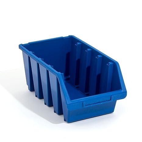1 x Ergo XL Azul apilables Cajas de almacenamiento caja de plástico 204x340x155